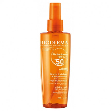 Bioderma Spray Photoderm Bronz Aceite seco Invisible SPF50
