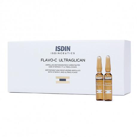 Isdin Flavo-C Ultraglican 30 ampollas de 2 ml