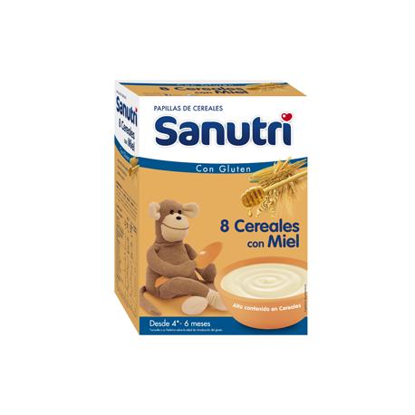 Sanutri 8 cereales miel 600gr 6m+