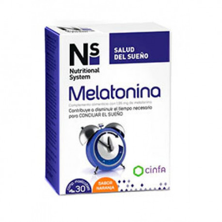 n+s melatonina 30 comp masticables