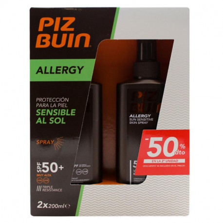 Duplo Piz Buin Allergy Sun Sensitive Skin Spray SPF50 2x200ml