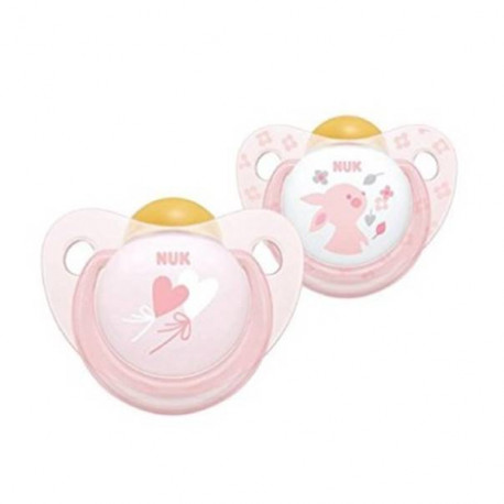Pack chupetes rosa 0-6 m latex