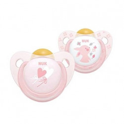 Pack chupetes rosa 6-18 m latex