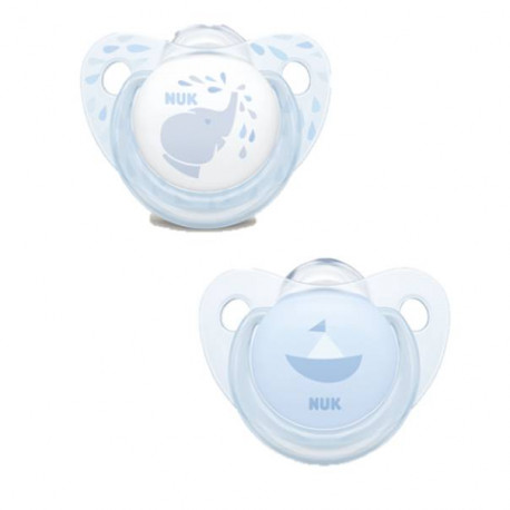 Pack chupetes azul 6-18 m silicona