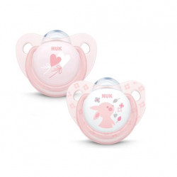 Pack chupetes rosa 6-18 m silicona