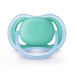 Avent Chupete Ultra Air Verde Azul Silicona 0-6 Meses
