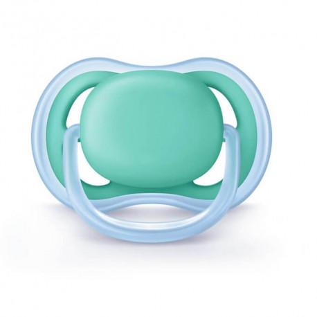 Avent Chupete Ultra Air Verde Azul Silicona 0-6 Meses