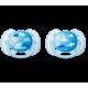 Chupete ultra soft silicona 6-18 m morado 2uds