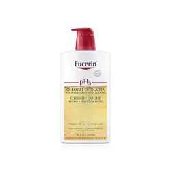 Oleogel de ducha pH5 para piel sensible y seca Eucerin 1000 ml.