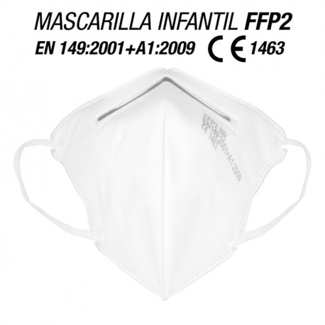 Mascarillas para Niños/as FFP2 Blancas 10 und
