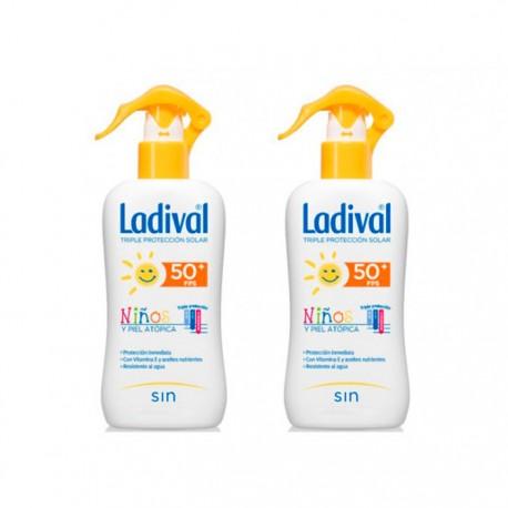 Duplo Ladival Spray Niños SPF50 Piel Atópica 2x200ml