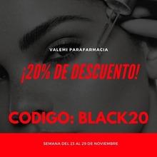Semana Black en Valemiparafarmacia, disfruta del 20% en web y estate pendiente durante la semana de las sorpresas que iremos publicando. #black #semanablack #blackfriday
