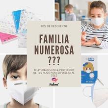 Os ayudamos en estos momentos, si eres familia numerosa, mándanos tu carnet por mail, valemi@valemi.es y te mandaremos un cupón descuento para tus compras en la #vueltalcole #familianumerosa